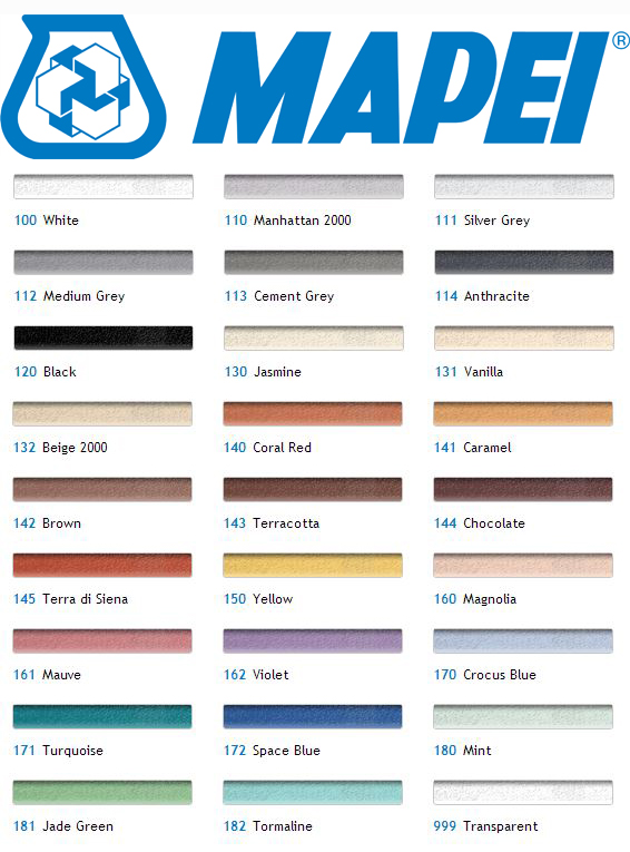 Image of Mapei colour range chart